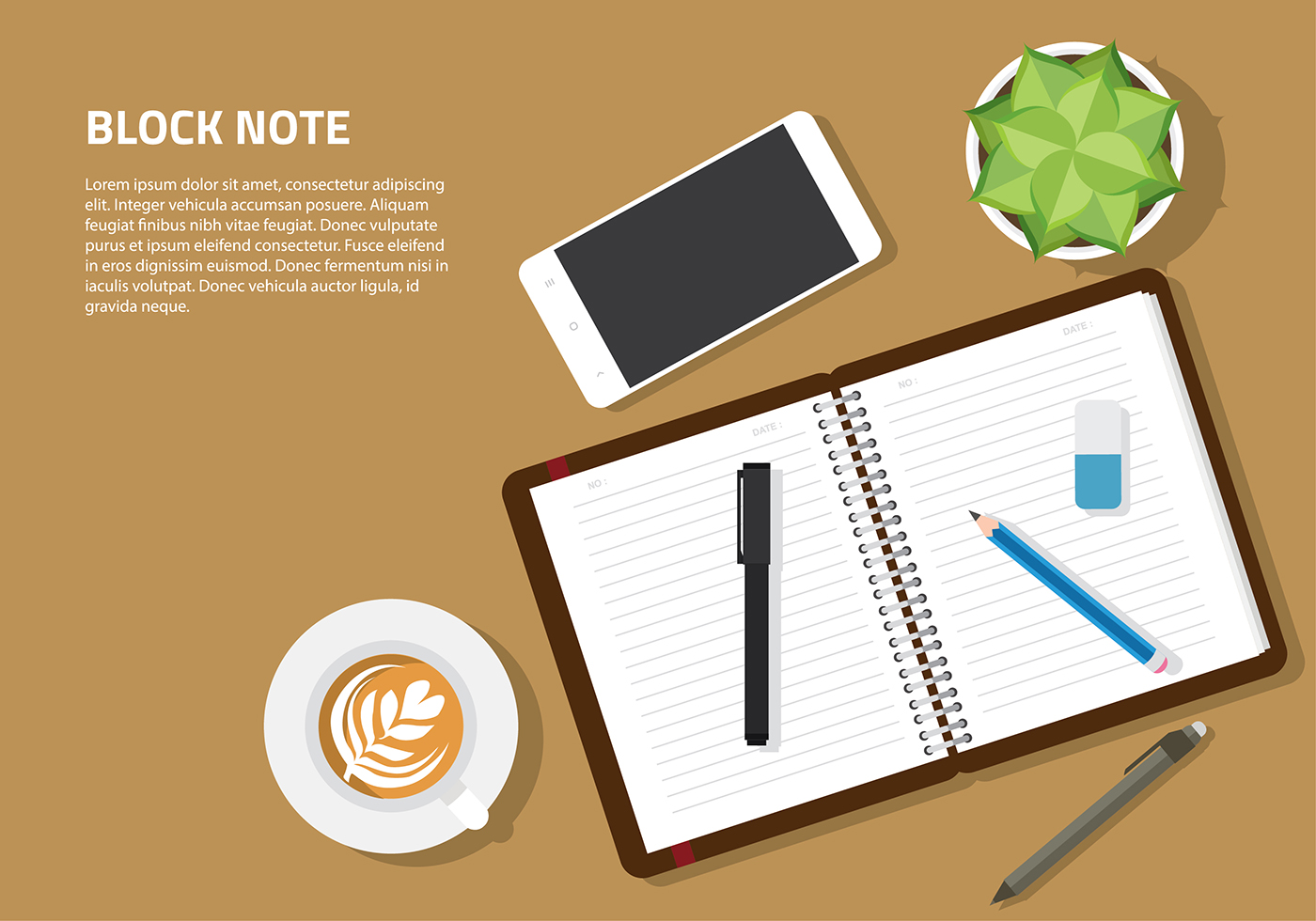 Notebook And Pen Sketch Stock Vector Art More Images Of: Block Note Mockup Set Vector