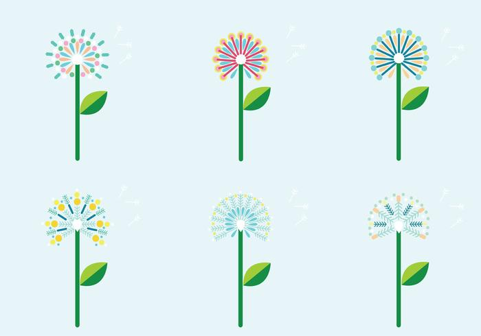 Colorful Blowball Vector Pack