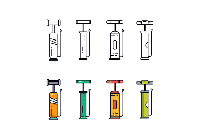 Free Air Pump Vector Pack