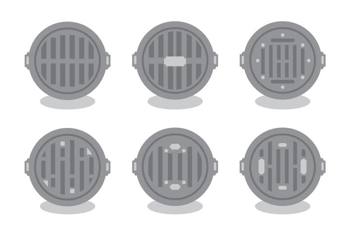 Manhole Vector Set
