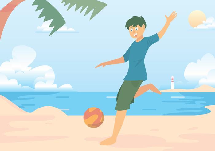 Fútbol-playa vector de disparo