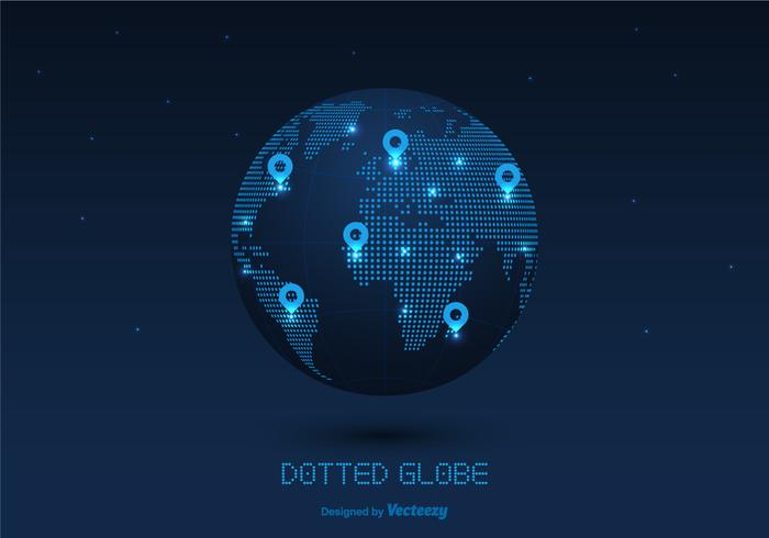 Modern Dotted Globe Vector