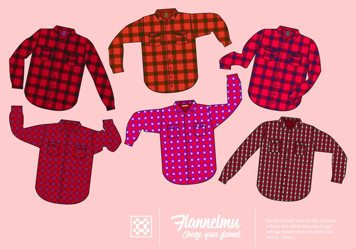 Fri Red flanellskjorta Vector Collection