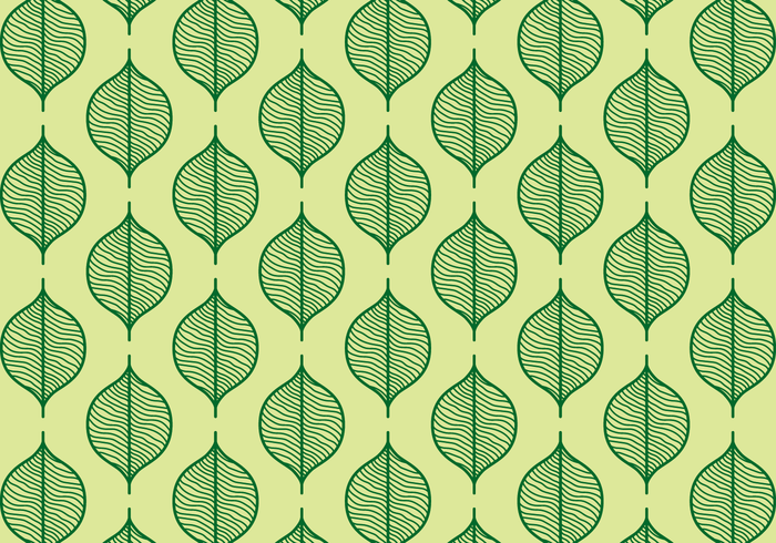 Green Seamless Leaf Background