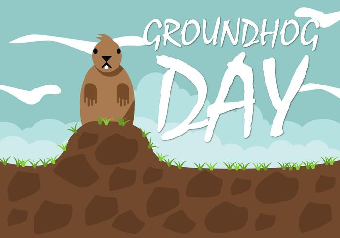 Free Groundhog Day Vector