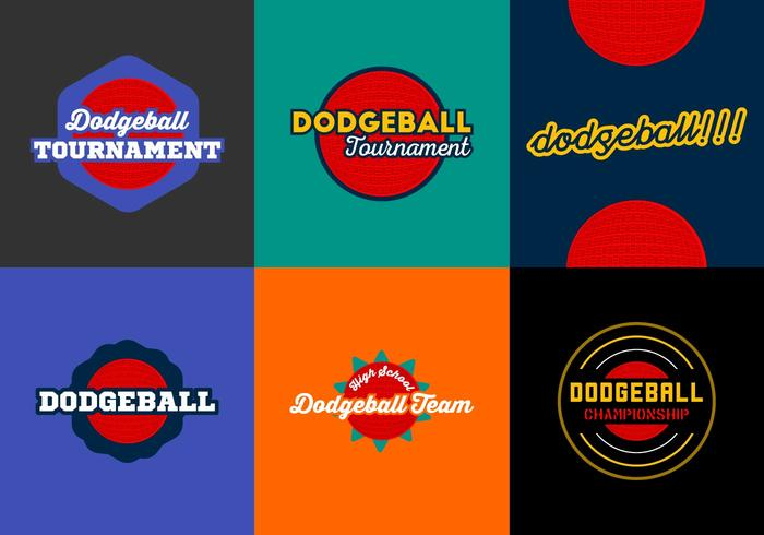 Dodgeball gratuit Badges Vector Pack