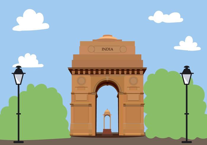 Puerta de la India vectorial libre