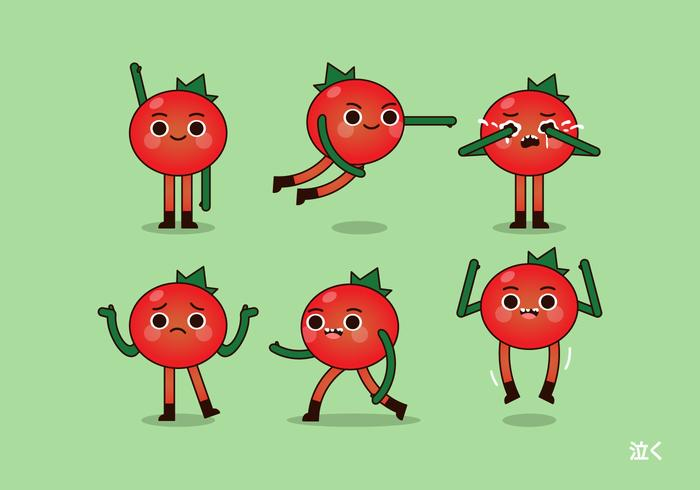 Vector Tomate e Poses