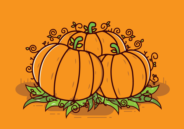 Gratis Pumpa Patch Vector