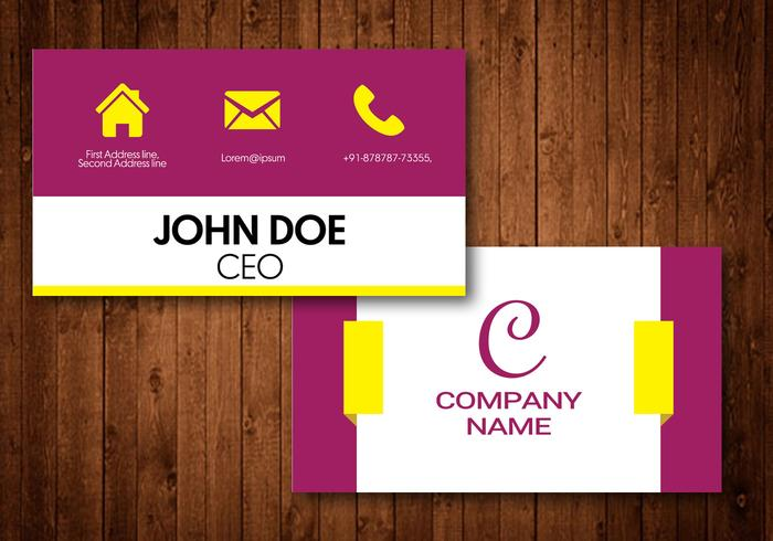 Elegant Visiting Card vector