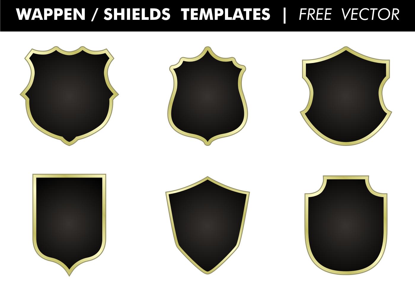 Wappen & Shields Templates Vector - Download Free Vector Art, Stock ...