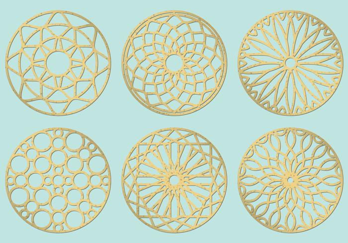 Círculos de corte por láser