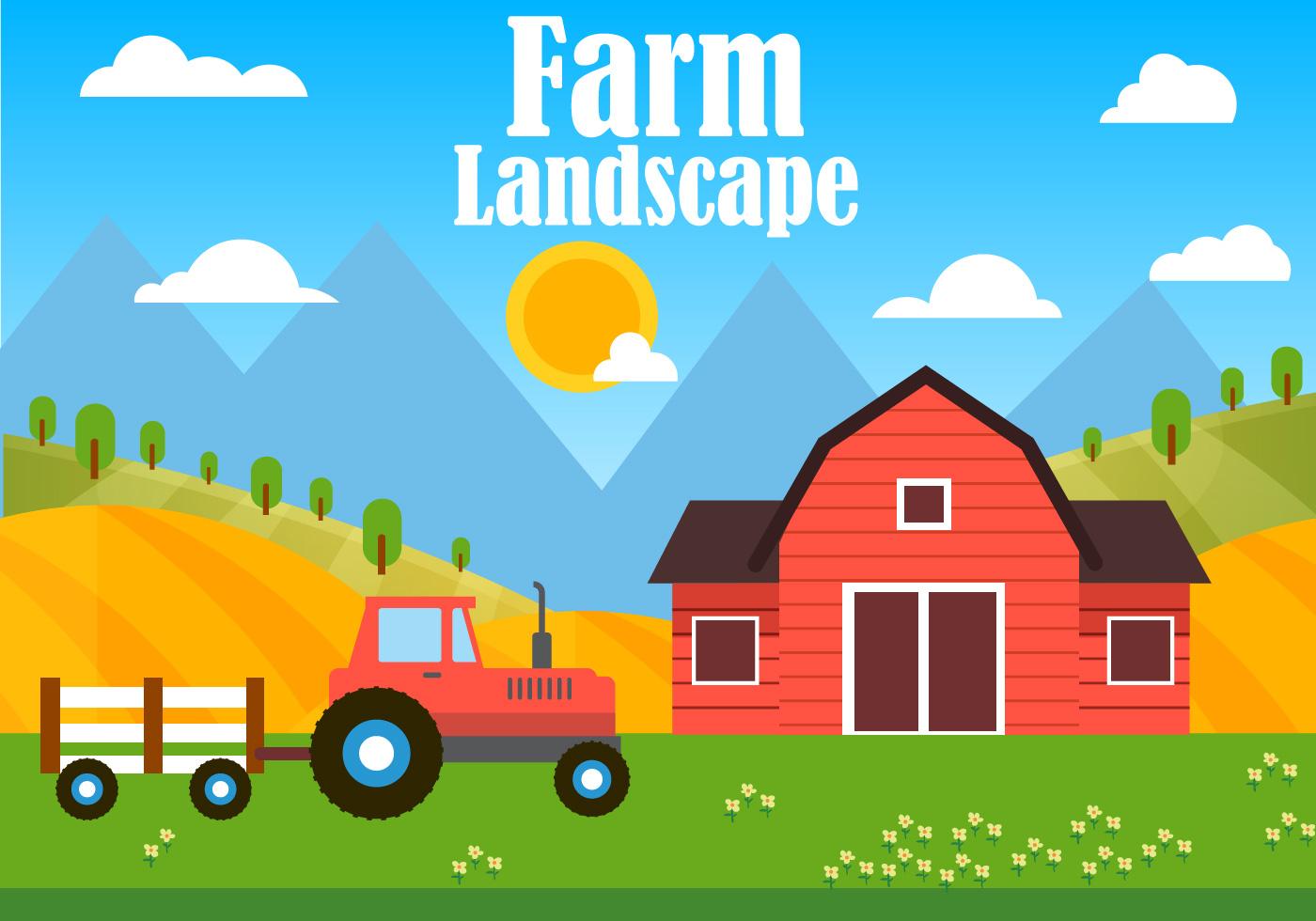 Free Farm Vector Illustration Download Free Vector Art