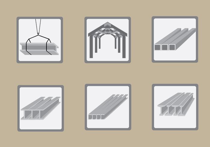 Viga de acero de construcción ilustración vectorial