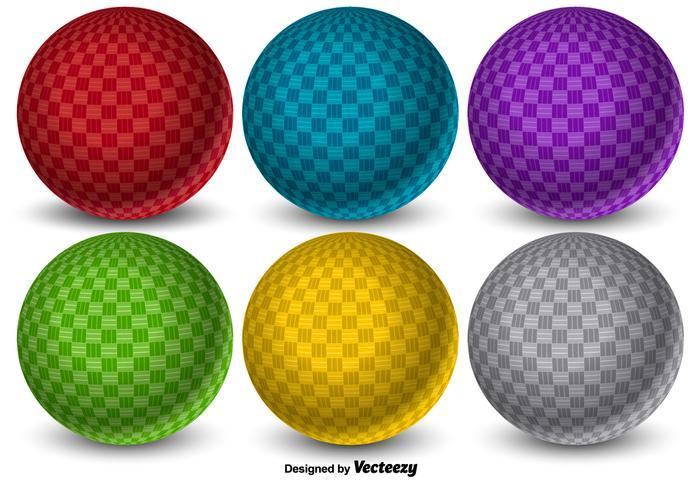 Vector 3D colorido Dodgeball Balls