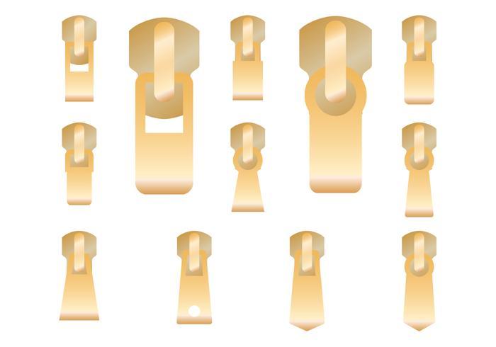 Gold Zipper Pull Vector