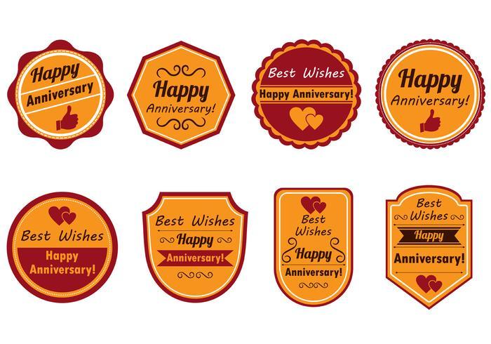 Happy Anniversary Stamp Vector