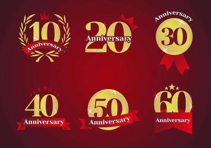 Vector aniversário Logos