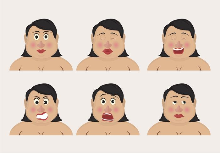 Curvy Woman Emoticons