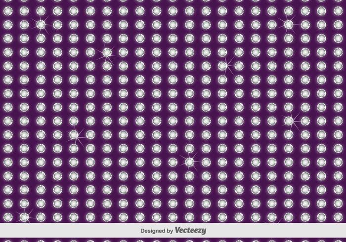 Purple Rhinestone Vector Pattern