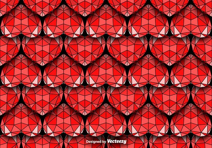 Geometric Hearts Seamless Vector Pattern