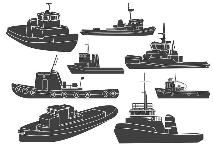 Tugboat Clipart Vectors