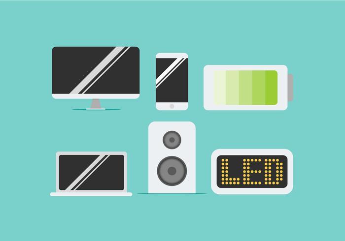 Vectores libres de pantalla LED