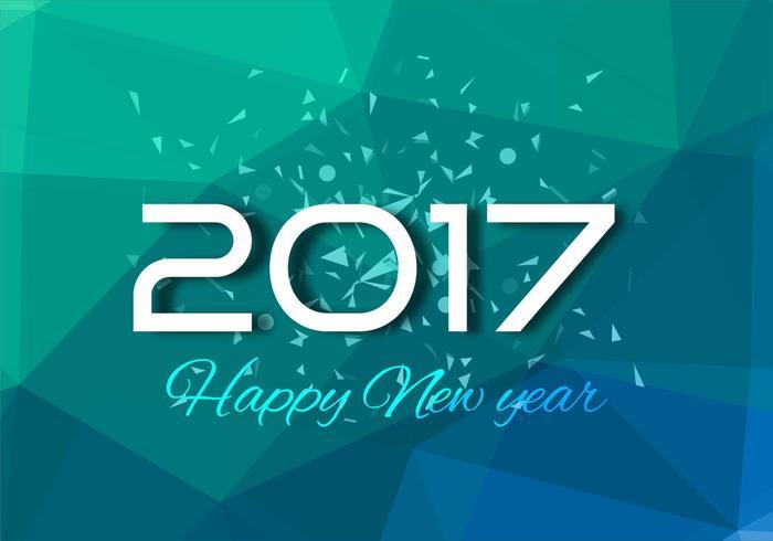 Gratis Vector New Year 2017 Achtergrond