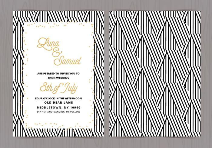 Vector Black and White Wedding laden