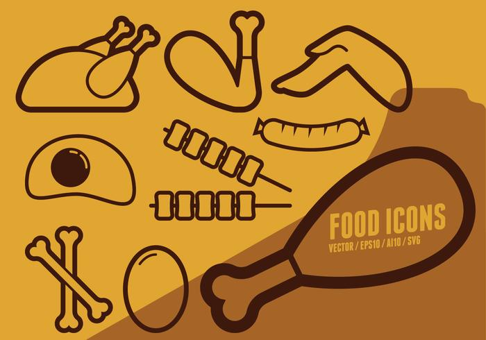 Game Day Food Icons