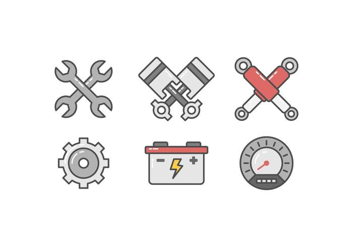 Freie Auto-Reparatur-Vektoren vektor