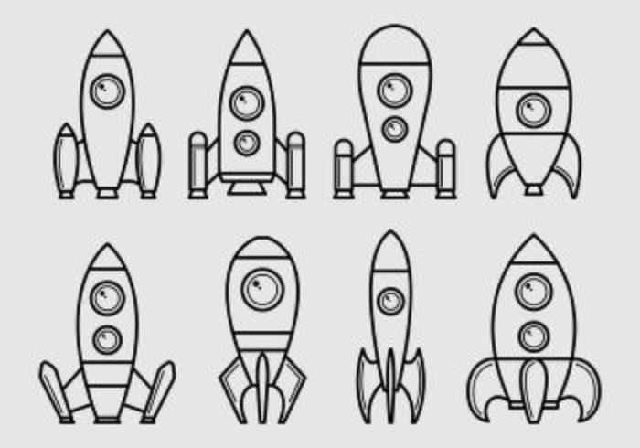Set Of Starship Icons