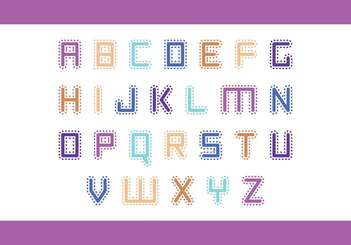 Stitched Letter Vector Pack