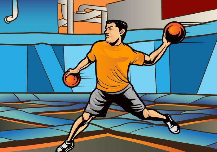 Indoor Dodgeball Player Vector
