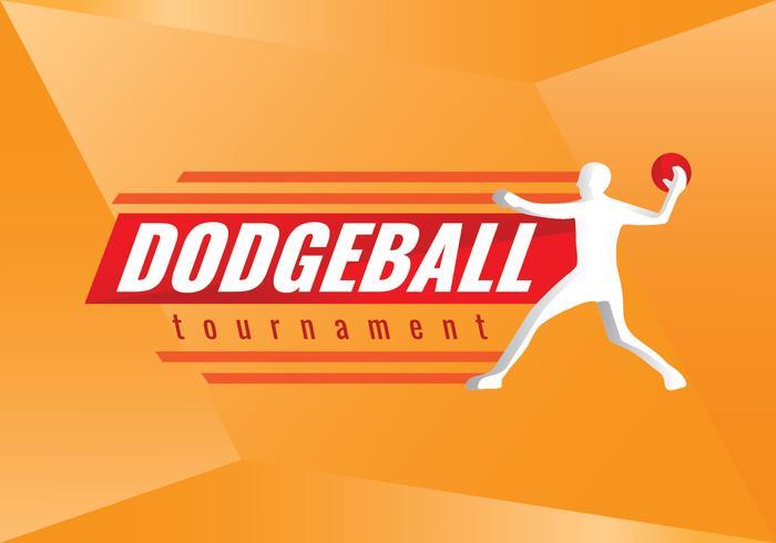 Gratis Dodgeball Toernooi Vector Logo