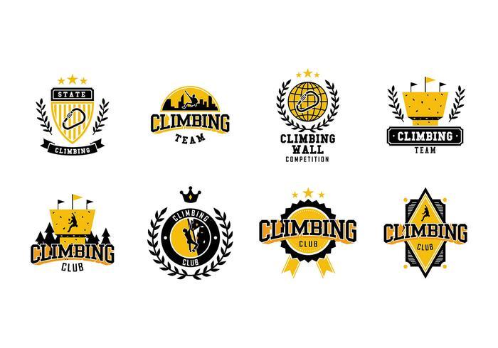 Kletterwand Logo Vector