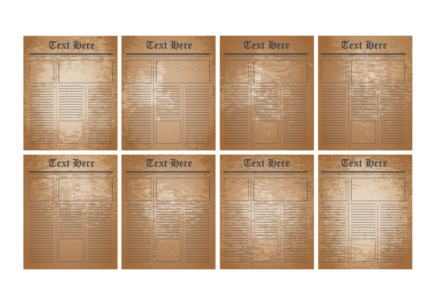 free old newspaper template vector