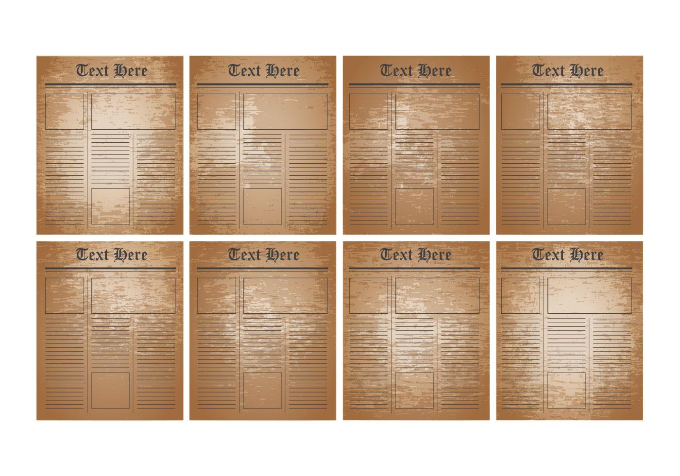 Vector libre Plantilla periódico viejo - Descargue Gráficos y ...
