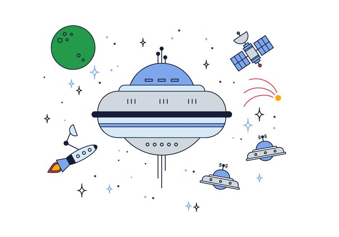 Free Space Ships Vector