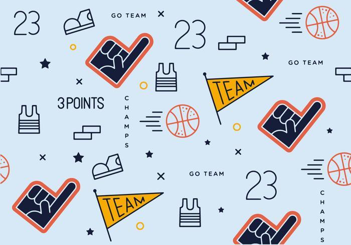 Free Basket Ball Pattern Vector