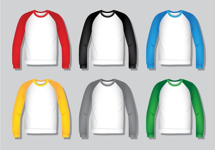 Raglan Shirt - Realistische vektor