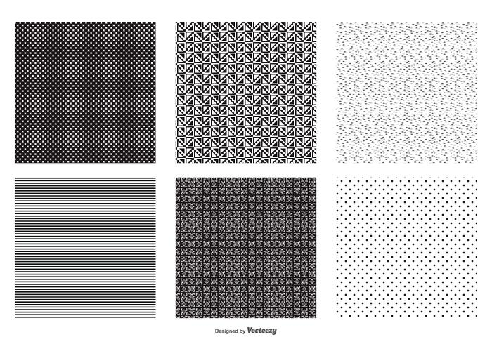 Seamless vecteur noir et blanc Patterns