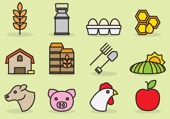 Cute Agriculture Icons