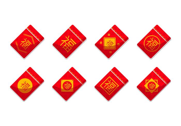 Free Red Packet Template Vector