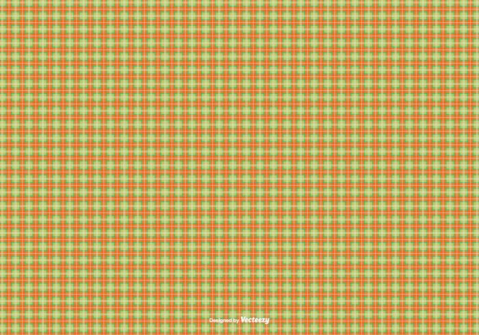Orange/Green Flannel Pattern Background