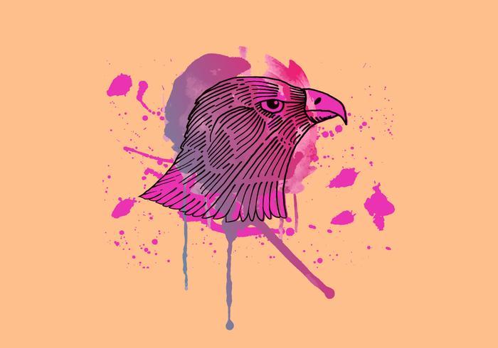 Hawk Inky Watercolor