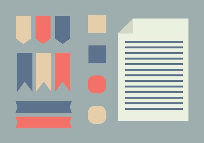 Set Of Flat Scrapbooking Elements