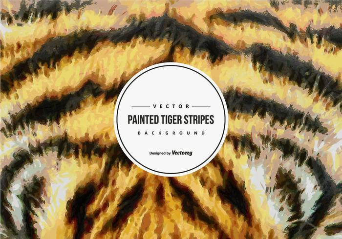 Painted Tiger Pattern Background