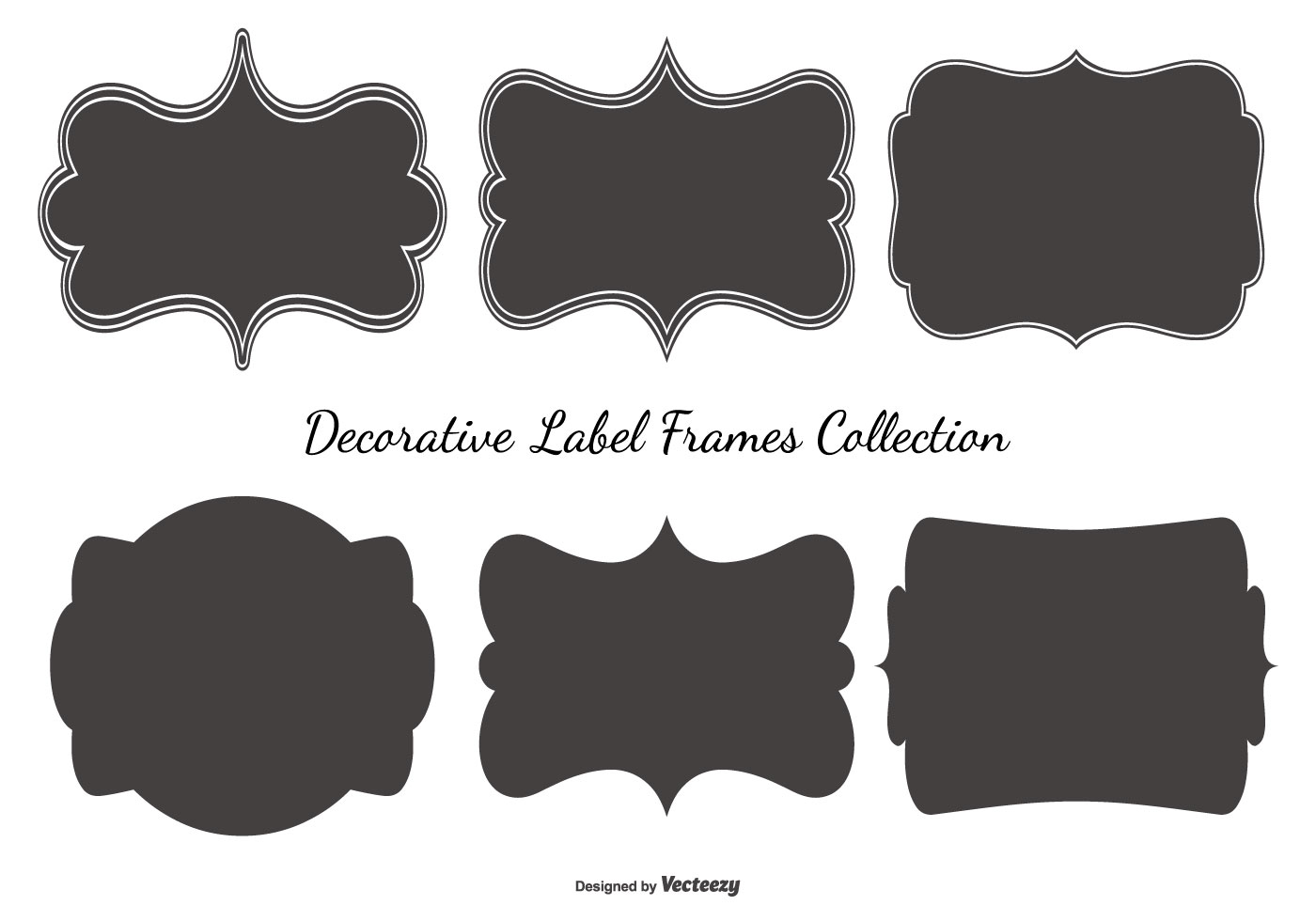 Black Frame Glasses Vector : Blank Label Frames Collection - Download Free Vector Art ...