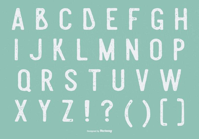 Coleção Retro Grunge Alphabet